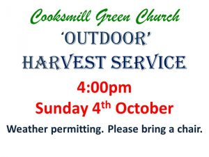Cooksmill Green Church Outdoor Harvest 2020