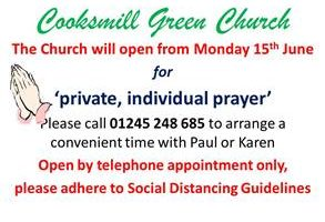 Cooksmill Green Church open SMALL